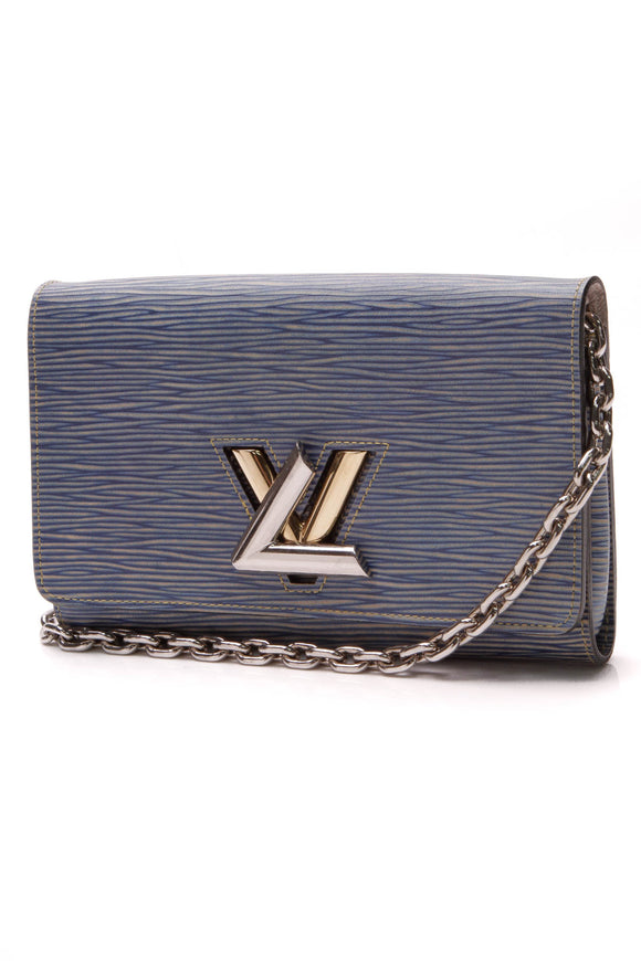 Louis Vuitton Epi Twist Wallet on a Chain Denim Blue