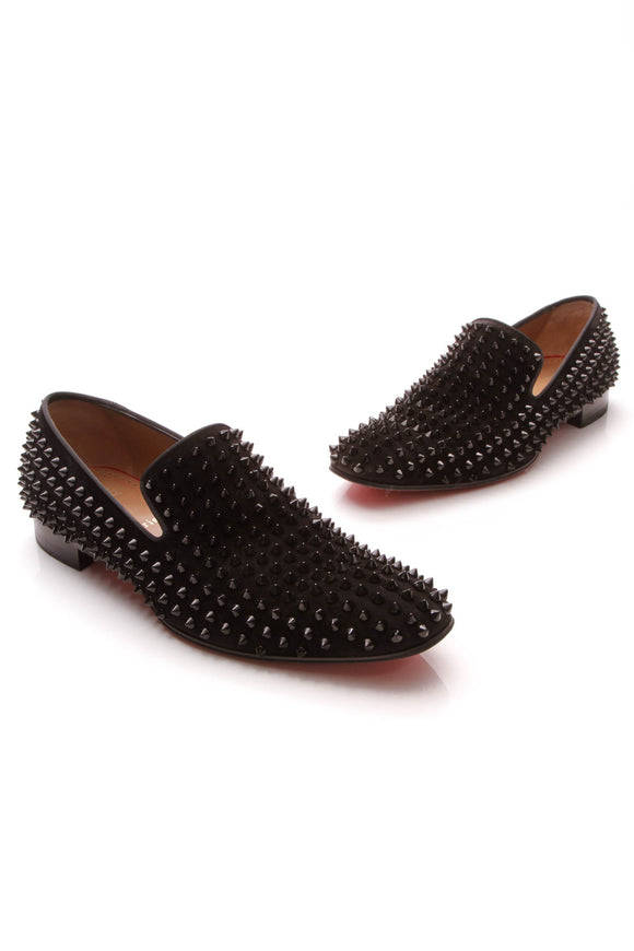 Christian Louboutin Dandelion Spiked Men's Loafers Black US Size 8.5