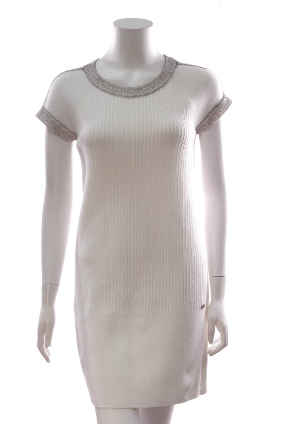 Chanel Knit Dress White Size 36