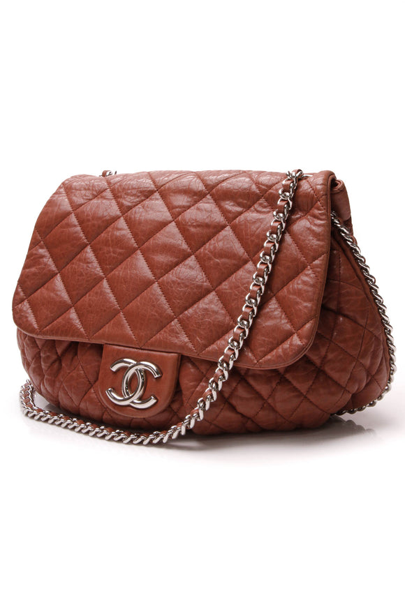 Chanel Chain Around Flap Bag Terracotta