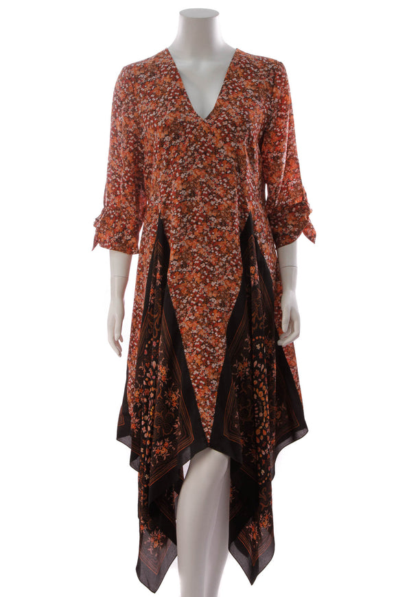 Altuzarra Elvira Floral Dress Sinopia Size 46