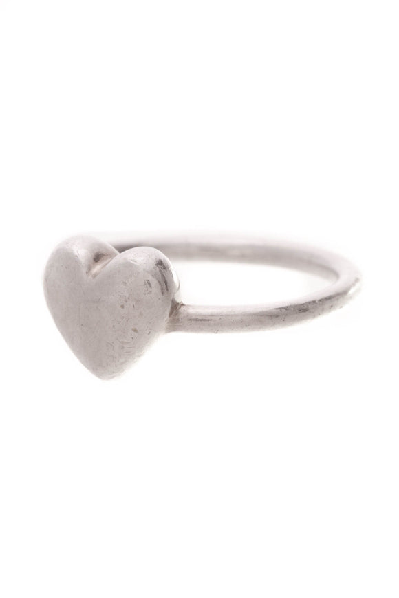 Tiffany & Co. Puffed Heart Ring Silver Size 6