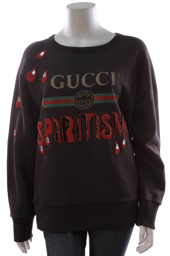 Gucci Spiritismo Men's Sweatshirt Black Size XS