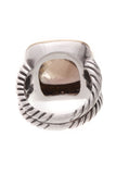 David Yurman Diamond & Smoky Quartz 14mm Albion Ring Silver Size 7