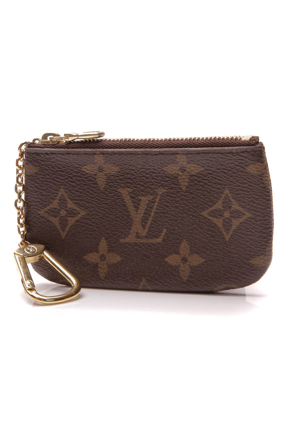 Louis Vuitton Key Pouch Monogram Canvas Brown