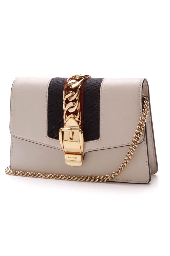 Gucci Sylvie Super Mini Bag White