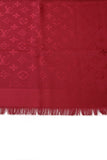 Louis Vuitton Monogram Shawl Scarf Pomme d' Amour Red