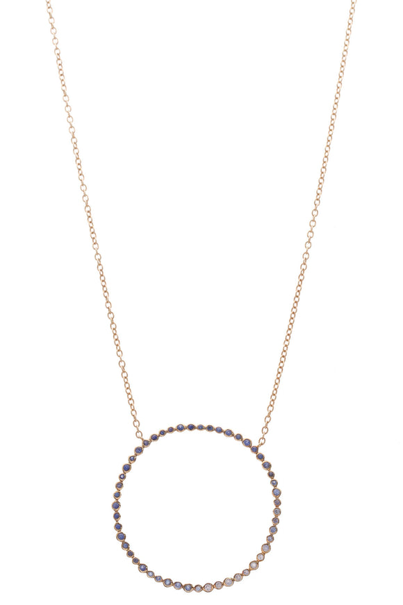 Ippolita Ombre Sapphire Circle Necklace Gold