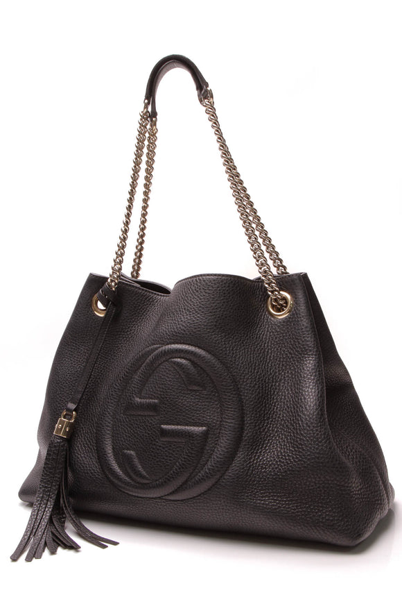 Gucci Soho Chain Tote Bag Black