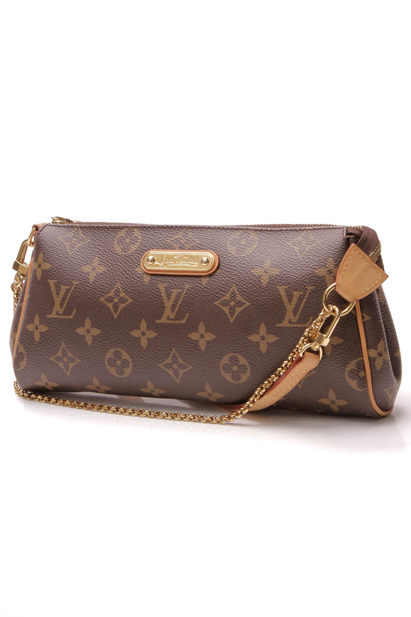 Louis Vuitton Eva Clutch Crossbody Bag Monogram Brown