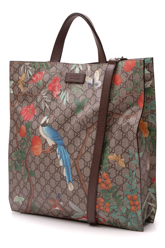 Gucci Tian Top Handle Tote Bag Supreme Canvas
