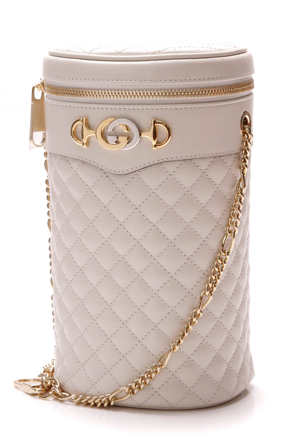 Gucci Trapuntata Belt Bag White