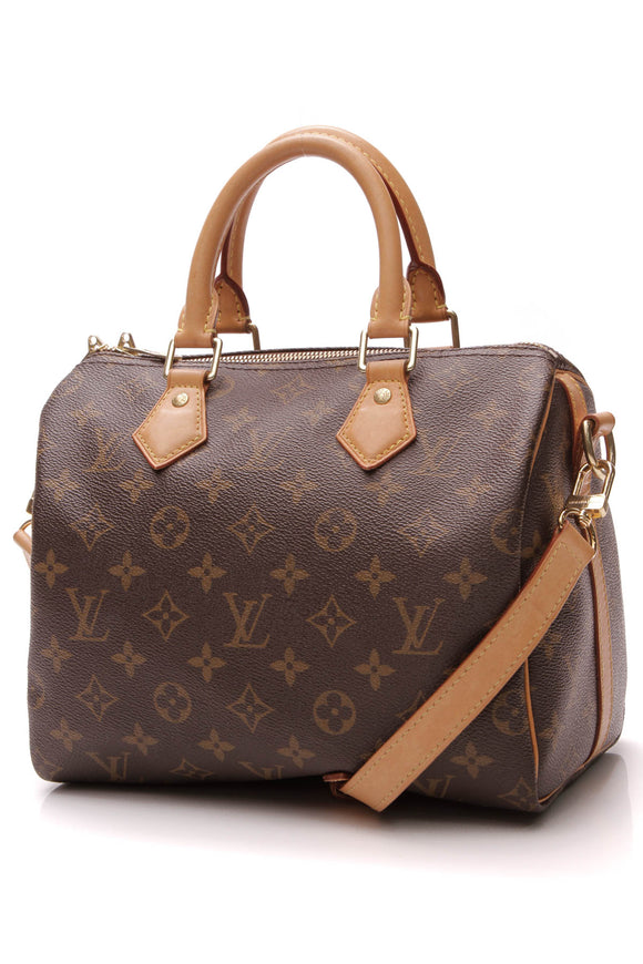Louis Vuitton Speedy Bandouliere 25 Bag Monogram Canvas Brown