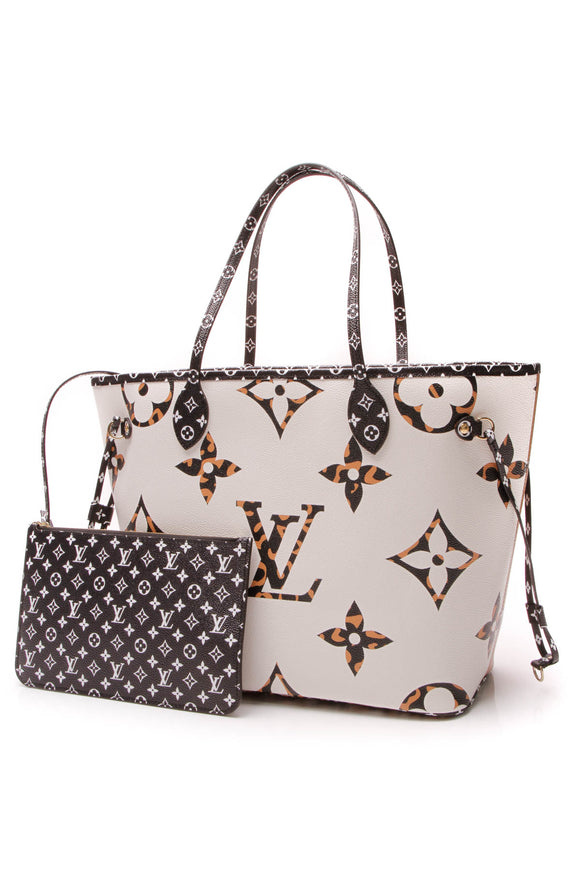 Louis Vuitton Jungle Neverfull MM Tote Bag Giant Monogram