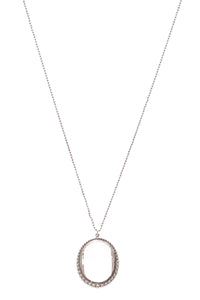 Tiffany & Co. Ziegfeld Oval Quartz Necklace Silver