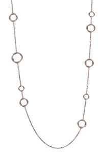 David Yurman Pearl Infinity Station Necklace Silver