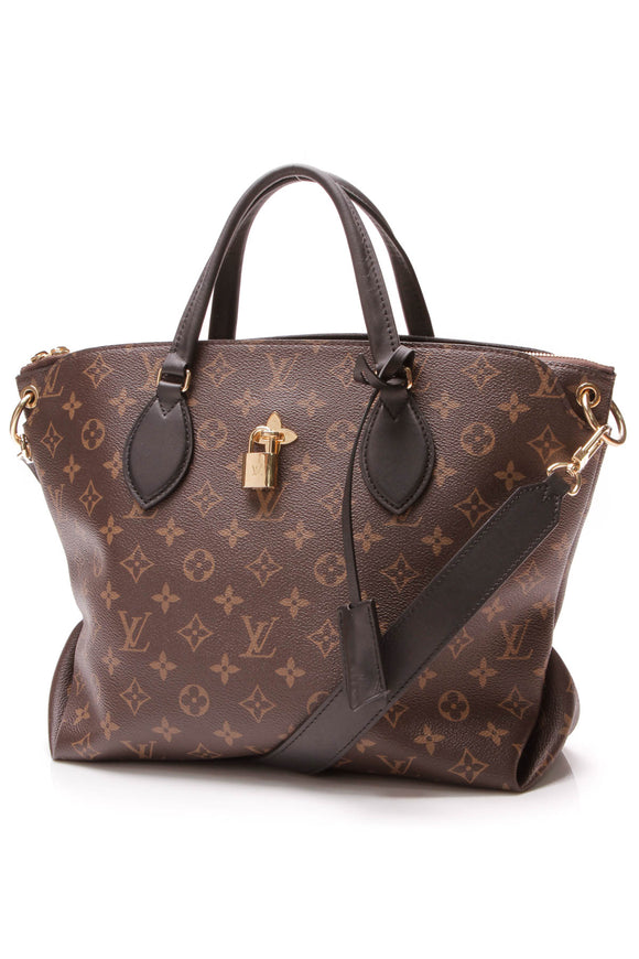 Louis Vuitton Flower Zipped Tote Bag Monogram Noir Brown Black