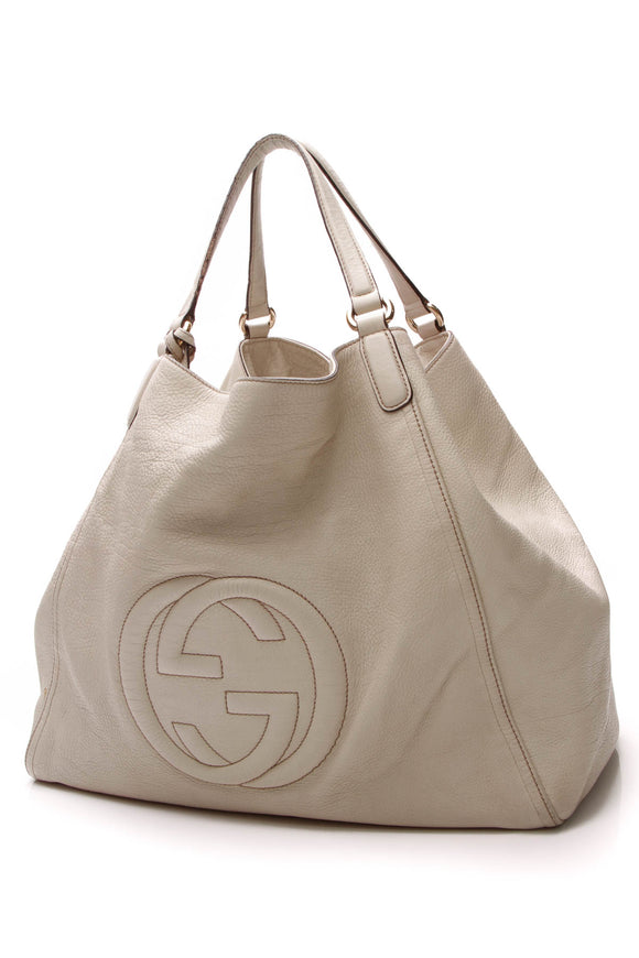 Gucci Soho Large Tote Bag White