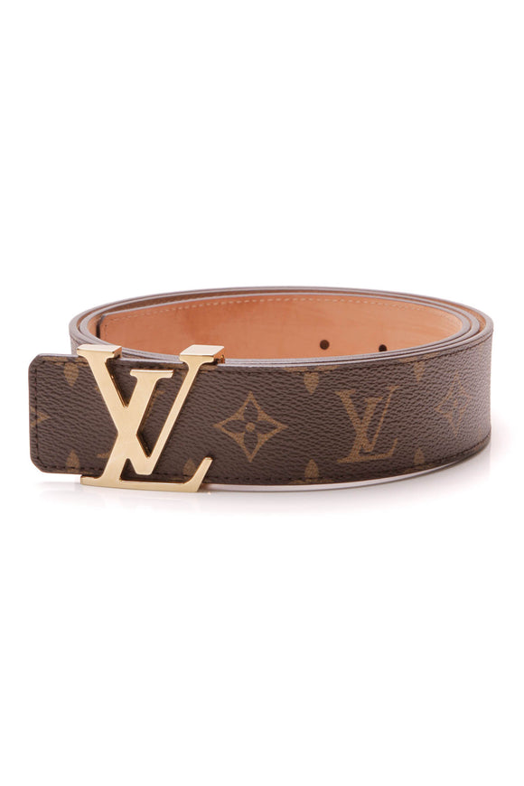 Louis Vuitton LV Initiales 40mm Belt Damier Ebene Size 44 Brown
