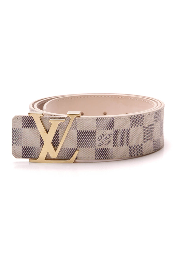 Louis Vuitton LV Initiales 40mm Belt Damier Azur Size 40