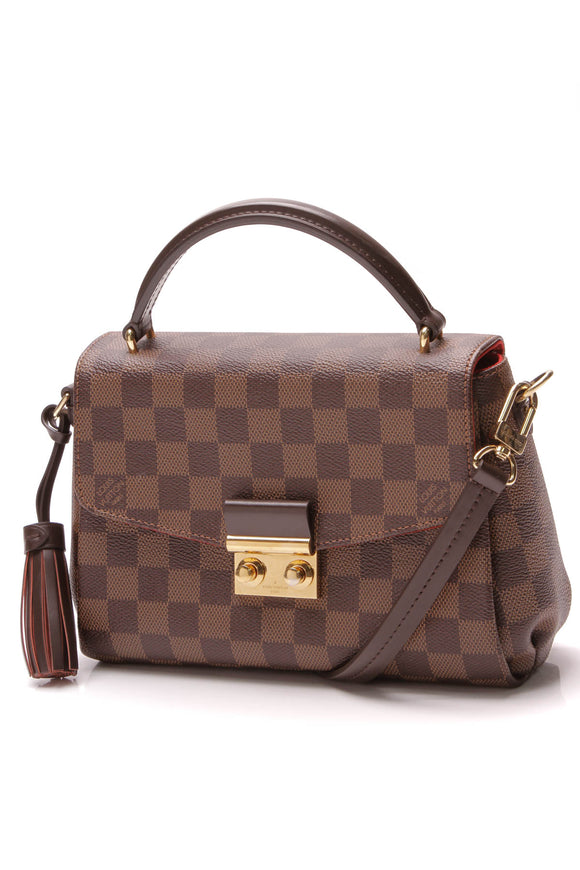 Louis Vuitton Croisette Crossbody Bag Damier Ebene Brown