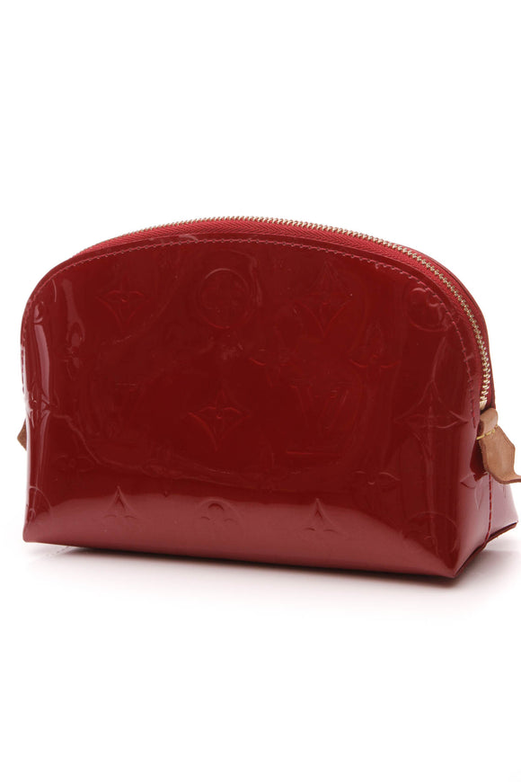 Louis Vuitton Vernis Cosmetic Pouch Pomme d' Amour Red