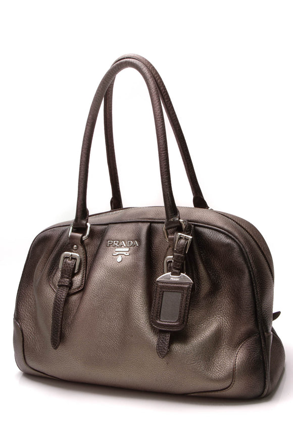 Prada Ombre Shoulder Bag Black Bronze