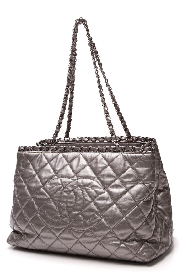 Chanel Chain Me Tote Bag Silver