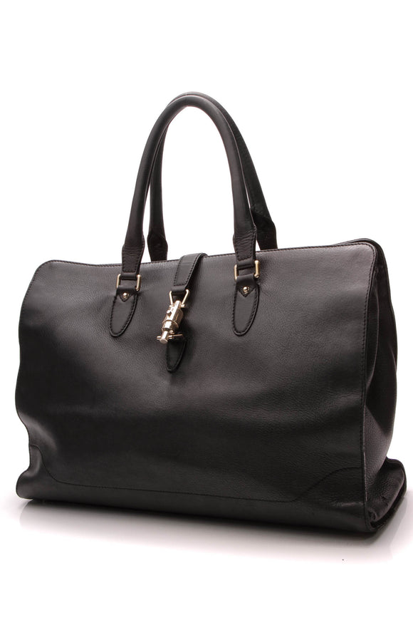 Gucci Piston Lock Tote Bag Black