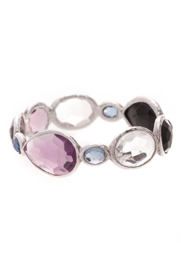Ippolita Multistone Rock Candy Gelato Bangle Bracelet Silver
