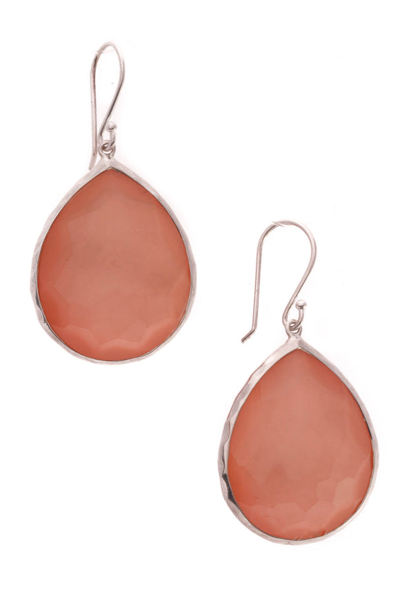Ippolita Wonderland Large Teardrop Earrings Silver Pink
