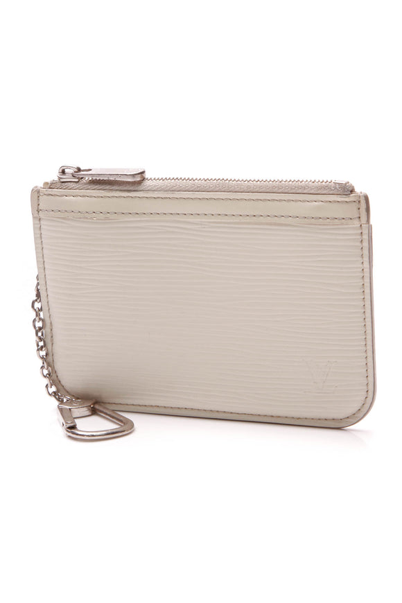 Louis Vuitton Epi Key Pouch Naturel Ivory