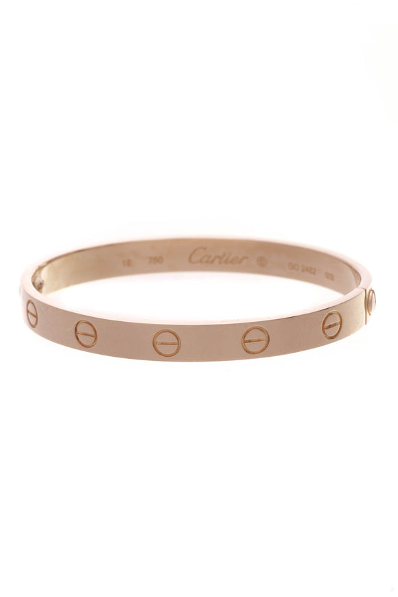 Cartier Love Bangle Bracelet Pink Gold Size 16