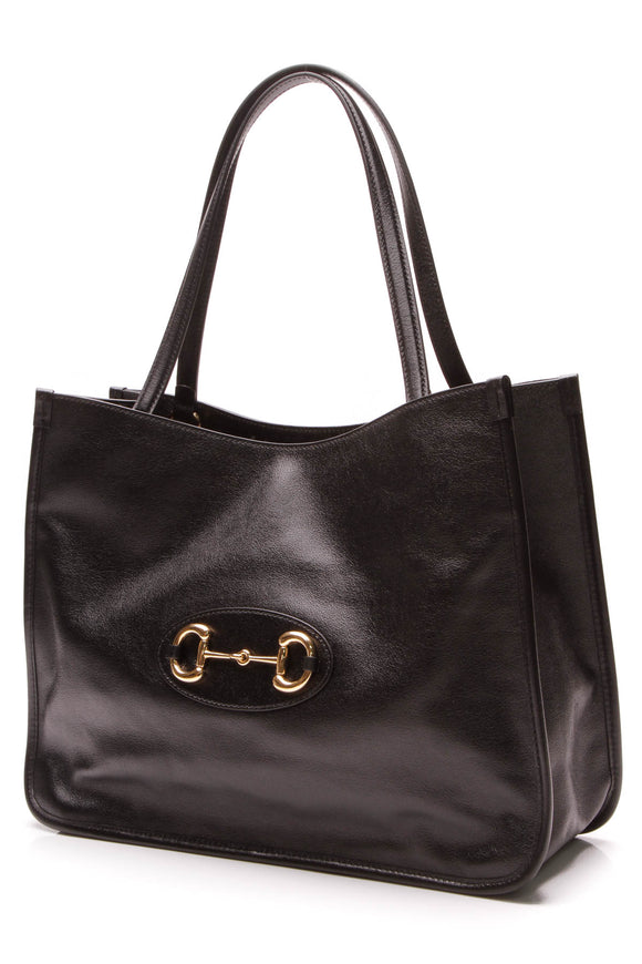 Gucci 1955 Horsebit Tote Bag Black