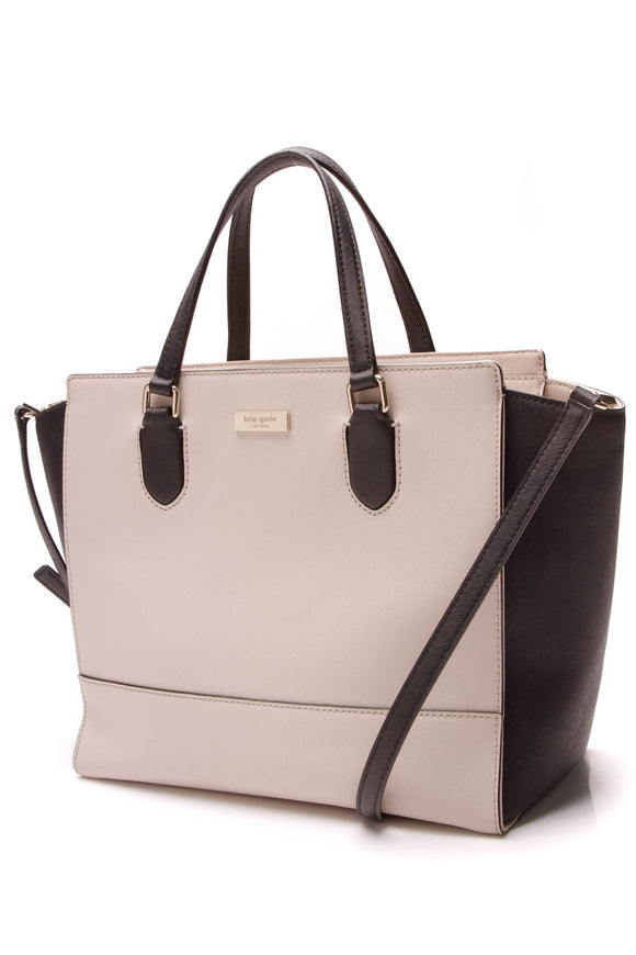 Kate Spade Laurel Way Hadlee Tote Bag Cream Black