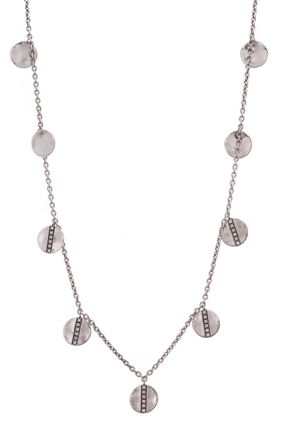 Ippolita Diamond Disc Paillette Necklace Silver