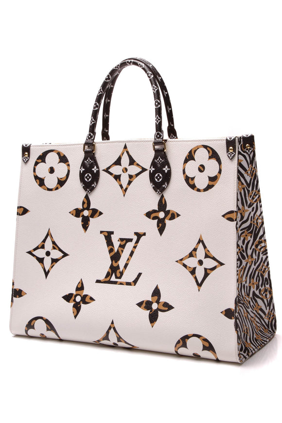 Louis Vuitton On The Go Tote Bag Giant Jungle Monogram