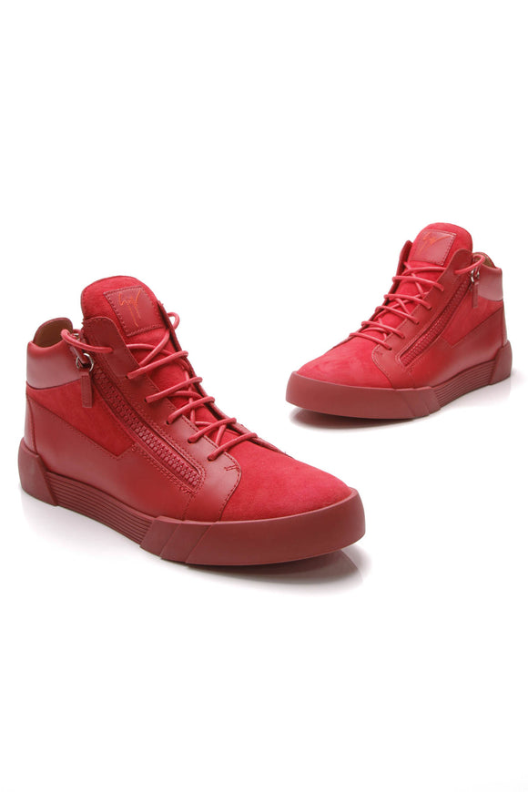 Giuseppe Zanotti London Men's High Top Sneakers Red US Size 11