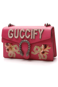 Gucci Guccify Embellished Dionysus Small Shoulder Bag Rosa Pink