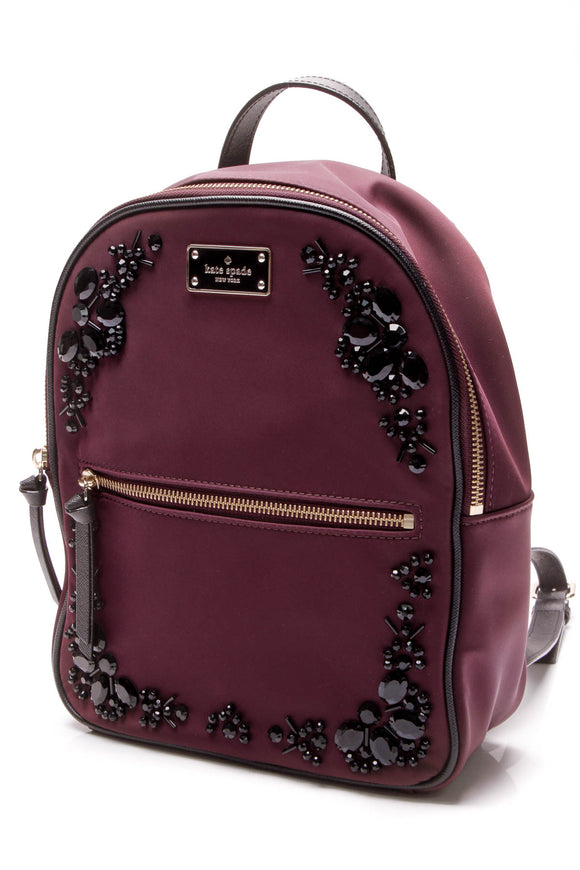 Kate Spade Wilson Road Embellished Bradley Backpack - Deep Plum
