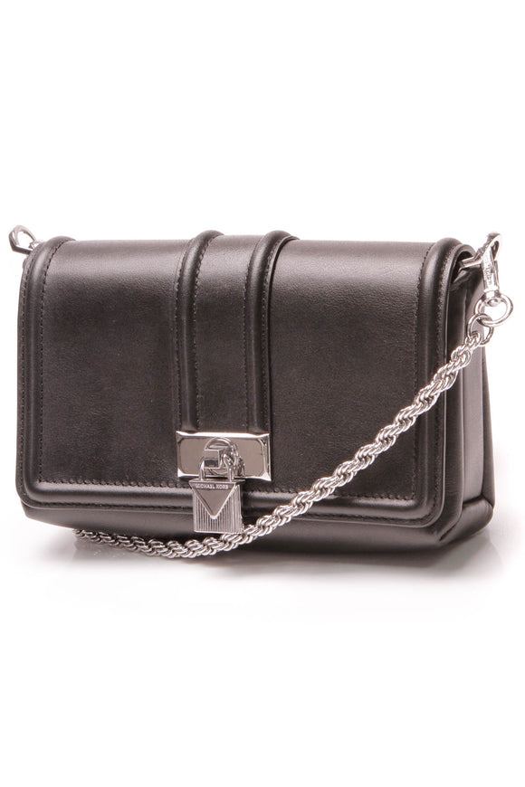Michael Kors Padlock Chain Crossbody Bag - Black