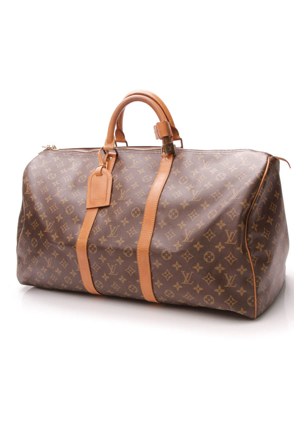 Louis Vuitton Vintage Keepall 55 Travel Bag - Monogram