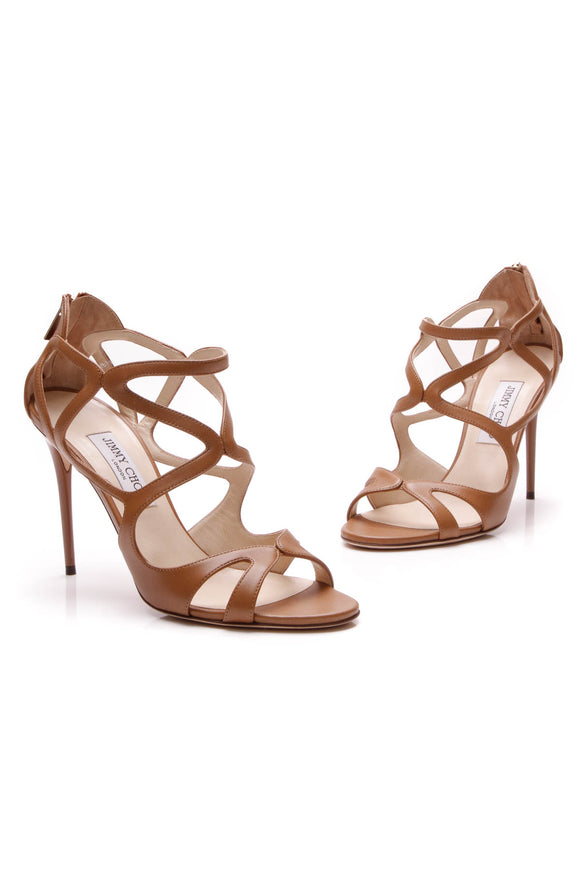 Jimmy Choo Leslie 100 Heeled Sandals - Canyon Size 40