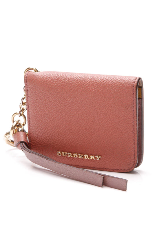 Burberry Camberwell ID Card Case Bag Charm - Pink