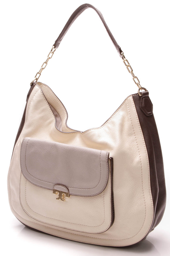 Tory Burch Sammy Hobo Bag - Cement Gray/Multicolor