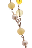 Chanel Faux Pearl & Bead Long Necklace - Gold