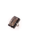 Stephen Dweck Smokey Quartz & Onyx Large Ring - Silver Size 5.75