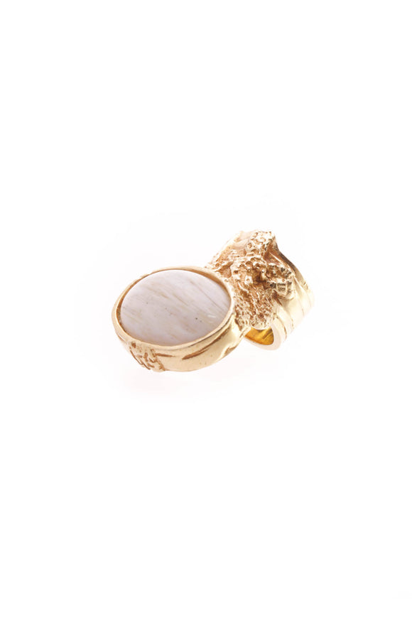Yves Saint Laurent Arty Ring - Gold Size 6