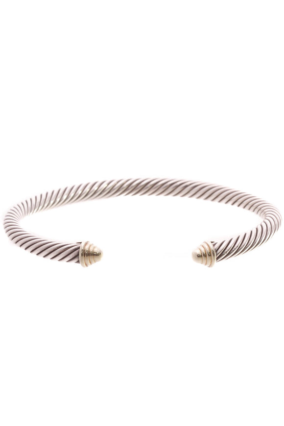 David Yurman 5mm Cable Classic Bracelet - Silver/Gold