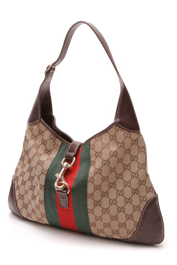 Gucci Jackie O' Bouvier Large Hobo Bag - Signature Canvas